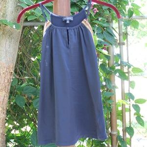 The Limited Navy Blue Tank Top Keyhole Western XS